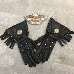 Ladies Extended Fringe Harley Gloves